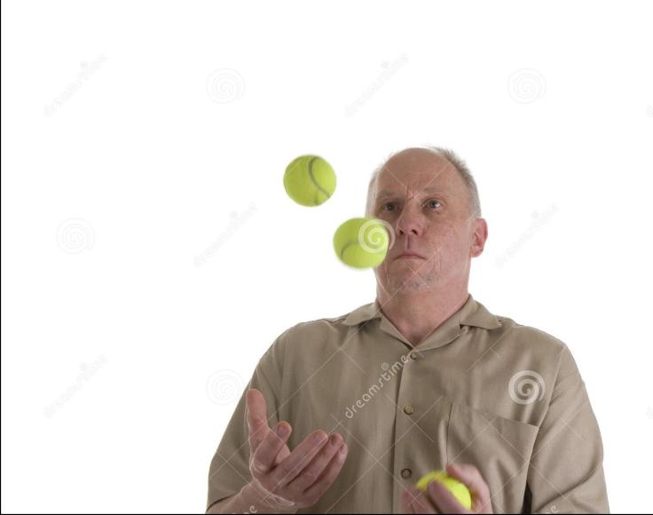 man met ballen